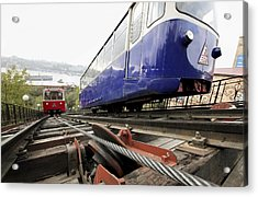 Funicular Railway In Vladivostok Acrylic Print by Science Photo Library