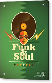 Funk And Soul Poster. Vector Acrylic Print