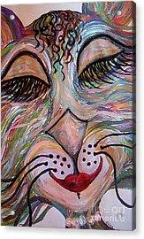 Funky Feline  Acrylic Print by Eloise Schneider