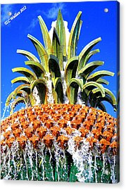 Funky Fountain Acrylic Print by Tammy Wallace