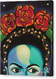 Acrylic Print featuring the painting Funky Frida by Carla Bank