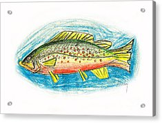 Funky Trout Acrylic Print