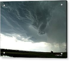Acrylic Print featuring the photograph Funnel Cloud by Fiskr Larsen