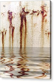 Funny Dance In Cold Water Acrylic Print
