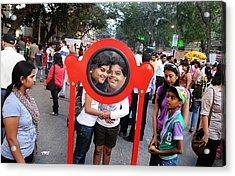 Funny Duo Acrylic Print by Money Sharma