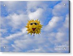 Funny Sunny Balloon Fac Acrylic Print