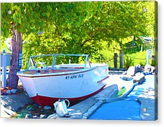 Funplex Funpark Boat 6 Acrylic Print by Lanjee Chee