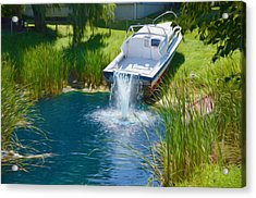 Funplex Funpark Boat 7 Acrylic Print by Lanjee Chee