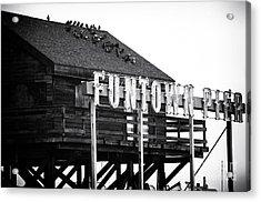 Funtown Pier Acrylic Print by John Rizzuto