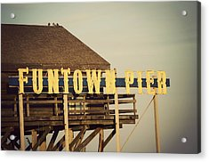 Funtown Vintage Acrylic Print by Terry DeLuco