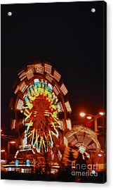 Fur Rondy Ferris Wheel In Anchorage Acrylic Print by Cynthia Lagoudakis