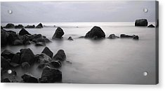 Furbo Beach Acrylic Print by Peter Skelton