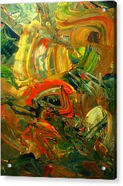 Acrylic Print featuring the painting Furious Brush by Ray Khalife