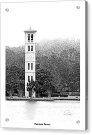 Furman Tower - Architectural Renderings Acrylic Print