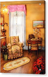 Furniture - Chair - Livingrom Retirement Acrylic Print by Mike Savad