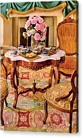 Furniture - Chair - The Tea Party Acrylic Print by Mike Savad