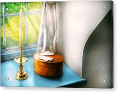 Furniture - Lamp - In The Window  Acrylic Print by Mike Savad