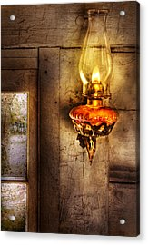 Furniture - Lamp - Kerosene Lamp Acrylic Print by Mike Savad