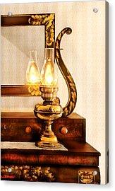 Furniture - Lamp - The Bureau And Lantern Acrylic Print by Mike Savad