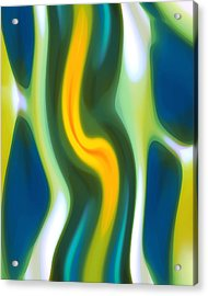 Abstract Tide 4 Acrylic Print by Amy Vangsgard