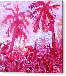 Fuschia Landscape Acrylic Print