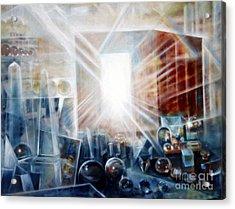 Future City #5 Acrylic Print by Yael Avi-Yonah
