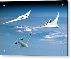 Future Green Aircraft Acrylic Print