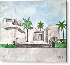 Architectural House  Acrylic Print by Ethan Altshuler