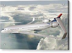 Future Hybrid Aircraft Acrylic Print by Nasa/lockheed Martin