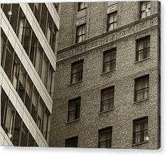 Acrylic Print featuring the photograph Futures Past - Architecture Abstract  by Steven Milner