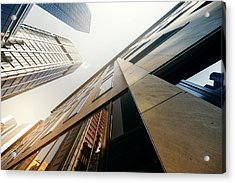Futuristic Office Building Acrylic Print by Ppampicture