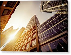 Futuristic Office Buildings Acrylic Print by Ppampicture