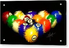Fuzzy Billiards Acrylic Print