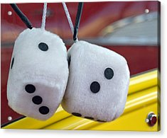 Fuzzy Dice Acrylic Print by Charlette Miller
