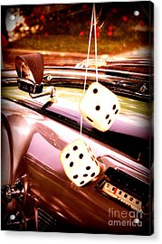 Fuzzy Dice Acrylic Print by Valerie Reeves