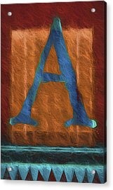 Fuzzy Letter A Acrylic Print by Carol Leigh