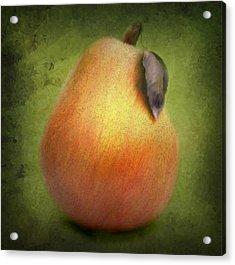 Acrylic Print featuring the digital art Fuzzy Pear by Nina Bradica