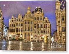 Gabled Buildings In Grand Place Acrylic Print by Juli Scalzi