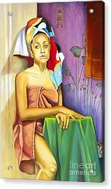 Gaby Acrylic Print by Marlene Book