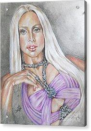 Gaga I Live On The Applause Acrylic Print by Sandra Valentini