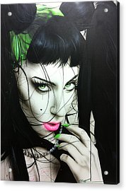 Lady Gaga - ' Gaga Iv ' Acrylic Print by Christian Chapman Art