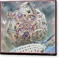 Acrylic Print featuring the digital art Gaia by Melissa Messick