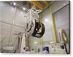 Gaia Space Probe Testing Acrylic Print by S Corvaja/european Space Agency