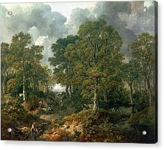 Gainsboroughs Forest Cornard Wood, C.1748 Oil On Canvas Acrylic Print by Thomas Gainsborough