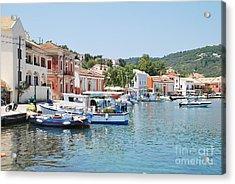 Gaios Harbour On Paxos Acrylic Print
