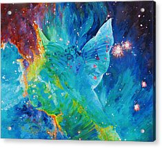 Galactic Angel Acrylic Print by Julie Turner