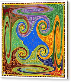 3d Twirl Galactic Invisible Teleport Station 2050 Alien Galaxy Communication Technology Startrack  Acrylic Print