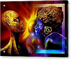 Galactic  Sisters Acrylic Print by Hartmut Jager