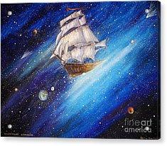 Galactic Traveler Acrylic Print