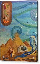 Galactic War Egyptian Release  Acrylic Print by TheKingofIdeas TKOI